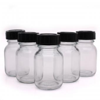 Flaschen aus Glas mit Schraubverschluss (5 x 50 ml)