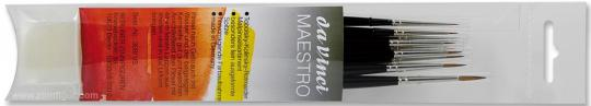 MAESTRO water colour brush, Set with 9 brushes (Size 10/0 to 3)