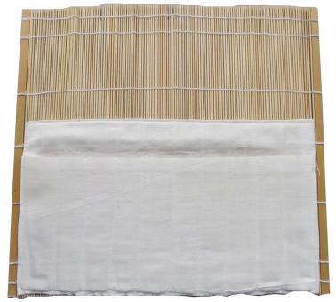 Bamboo mat with cotton pocket