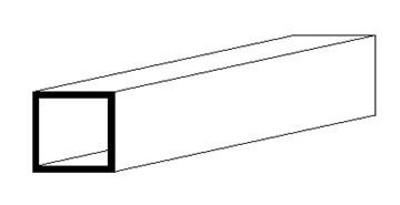 Square Tube, 350x4,80x4,80 mm