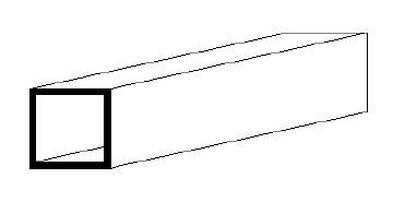 Square Tube 9.5 x 9.5 mm