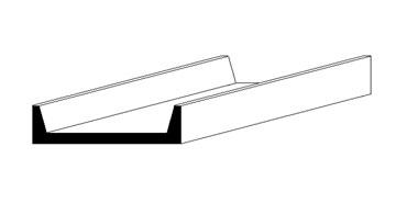u-profile, 350x2,5x1,1 mm