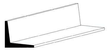 L-Profile, 350x3,2x3,2 mm