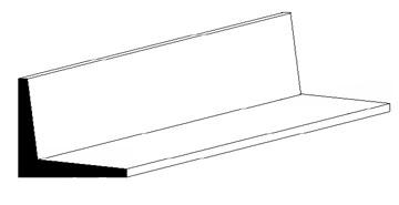 L-Profile, 350x4,8x4,8 mm