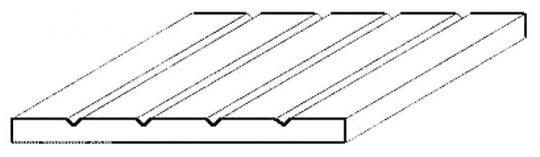 Strukturplatte 1x150x300 mm V-Rille 0,75mm Abstand