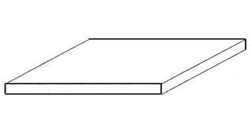 White Sheet Polysterene, 150x300x0,4 mm