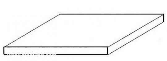 Weiße Polystyrolplatte, 200x530x0,25 mm - 8 Stück