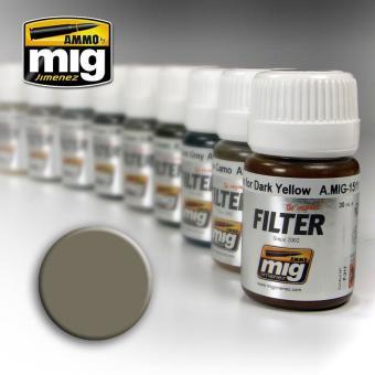 Grauer Filter für Sandgelb