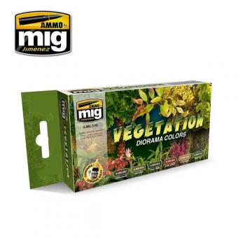 Vegetation Diorama Colours