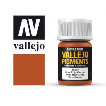 Vallejo Pigment Ocker dunkelrot 30 ml