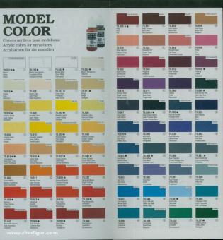 Valleyo-Farbkarte für Acrylic Colours
