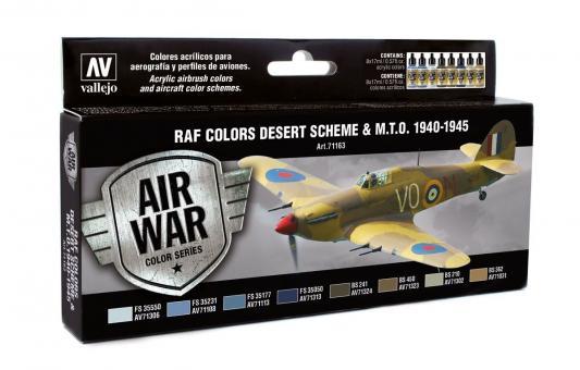 RAF Wüstentarnung und M.T.O. 1940-1945 Farbset