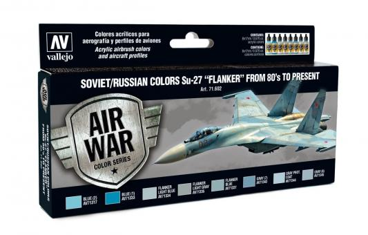 """Soviet/Russian colors Su-27 """"Flanker"""" from 80's to present"""