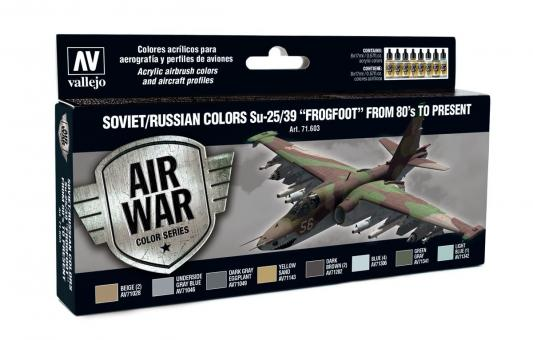"""Soviet/Russian colors Su-25/39 """"Frogfoot"""" from 80's to present"""