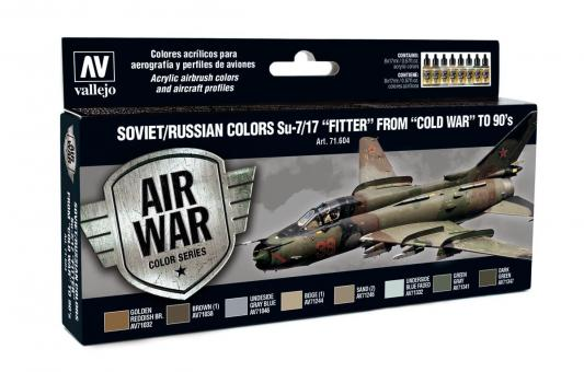 """Soviet/Russian colors Su-7/17 """"Fitter"""" from """"Cold War"""" to 1990's"""