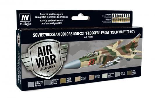 """Sowjetische / Russische Farben MiG-23 """"Flogger"""" Kalter Krieg bis 1990er Jahre"""