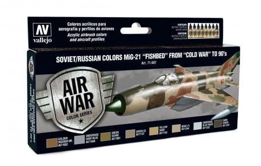 """Sowjetische / Russische Farben MiG-21 """"Fishbed"""" Kalter Krieg bis 1990er Jahre"""