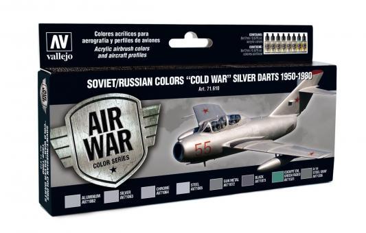 """Sowjetische / Russische Farben """"Kalter Krieg"""" Silberpfeile 1950-1980"""