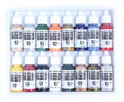 "Basic color set: figure base colors, exclusively compiled by ""Berliner Zinnfiguren"""