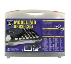 Complete SET with Airbrush: Model Air Set -Camouflage Colors