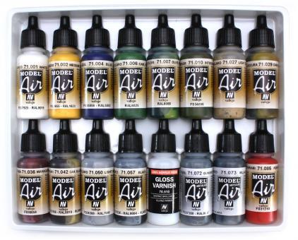 Airbrush-Grundfarben-Set: Gebäude-Farbset