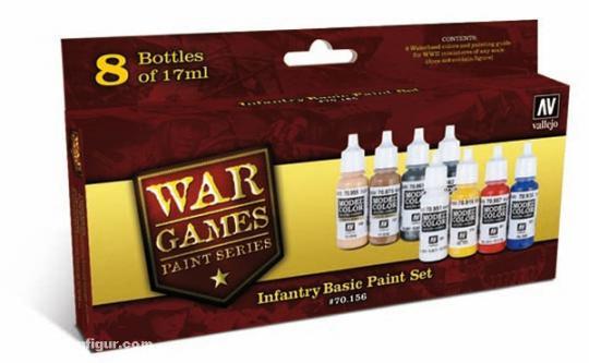 """Infanterie Basisfarbset """"Wargames Paint Set"""""""
