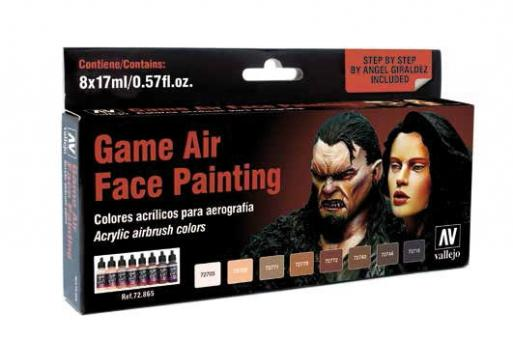 Game Air Gesichtsbemalungs-Farbset (by Angel Giraldez)