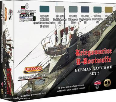 Lifecolor Farbset Kriegsmarine im 2. Weltkrieg, Teil 2: Deutsche U-Boote