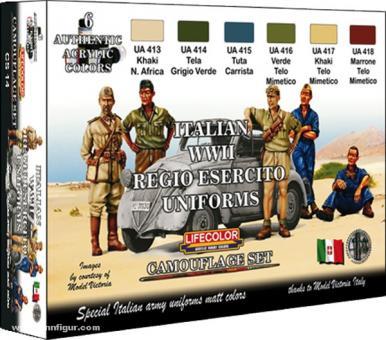 Lifecolor Farbset: Italienisches Heer Uniformen WK2