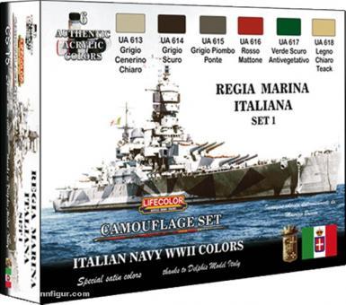 Lifecolor Farbset: Italienische Marine WK2