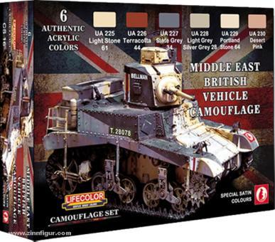 Lifecolor Farbset: Britische Panzer im Mittleren Osten