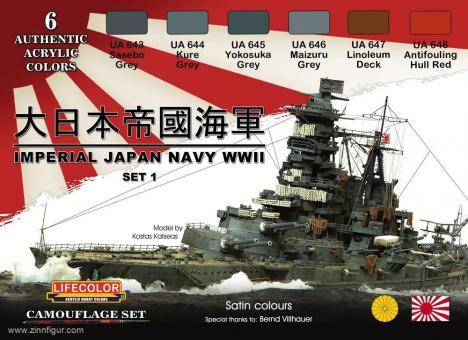 Kaiserliche Japanische Marine 2.WK Farbset Nr. 1