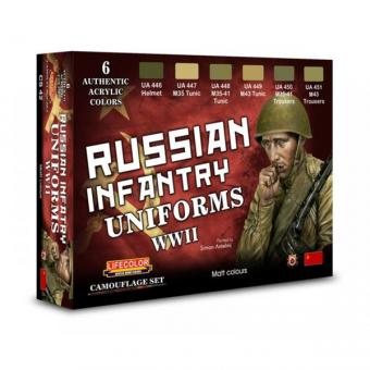 Russische Infanterie Uniformen - 2. Weltkrieg - Farbset