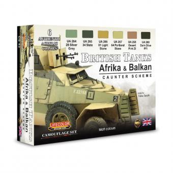 Britische Panzer, (Afrika & Balkan) 2.Wk Farbset