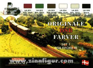 DSB Dänische Eisenbahnfarben 1