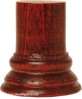 Round Wooden Base Red 24x45mm