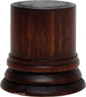 Sockel rund, Braun ca. 40 x 50 mm