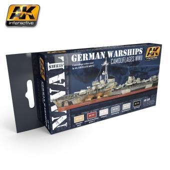 Deutsche Kriegsschiffe Farbset