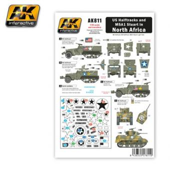 US Halftracks and M5A1 in North Africa Decal Set