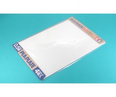 Plastic plate 0.5mm -white-