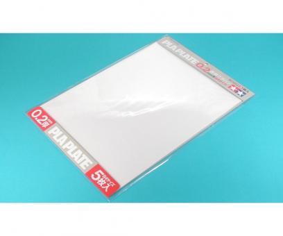 Kunststoff-Platte 0,2mm -klar-