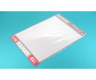 Kunststoff-Platte 0,4mm -klar-