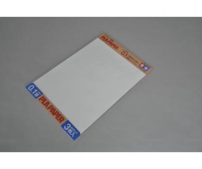 Kunststoff-Platte 0,1 mm -weiß-