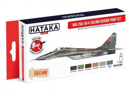 """MiG-29A/UB """"Fulcrum-A/B"""" 4-colour scheme paint set"""