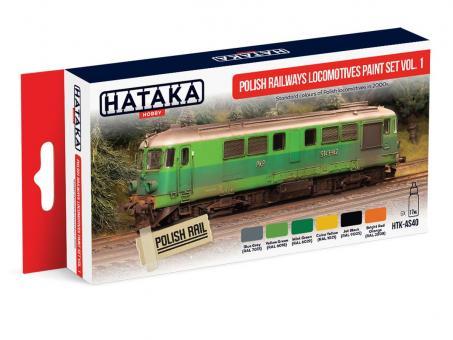 Polish Railways Locomotives Paint Set Vol. 1