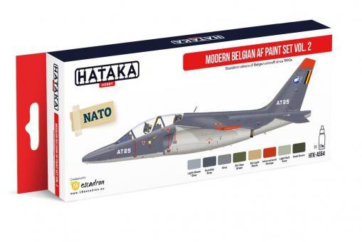 Farbset Moderne Belgische Kampfflugzeuge Teil 2