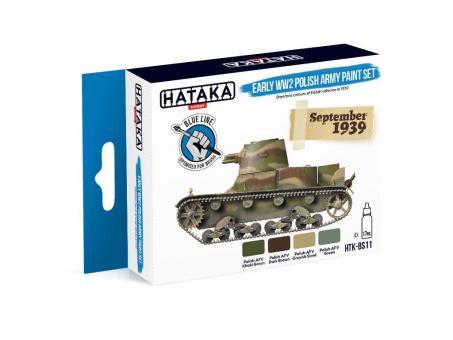Farbset (Blaue Serie) Frühe Polnische Armee - 2. Weltkrieg
