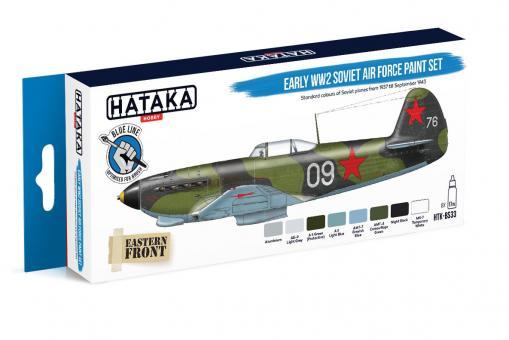 Farbset (Blaue Serie) Sowjetische Luftwaffe, früh - 2. Weltkrieg