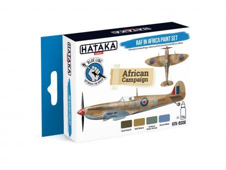 Farbset (Blaue Serie) Royal Air Force (RAF) in Afrika