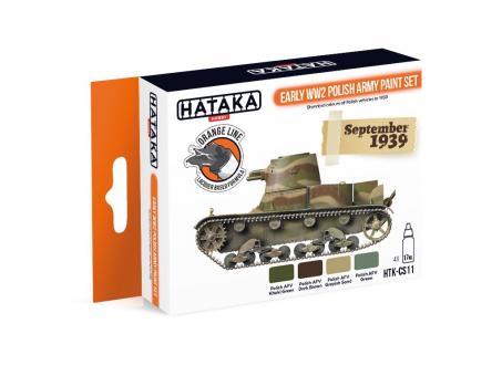 Farbset (Orange Serie) Frühe Polnische Armee - 2. Weltkrieg